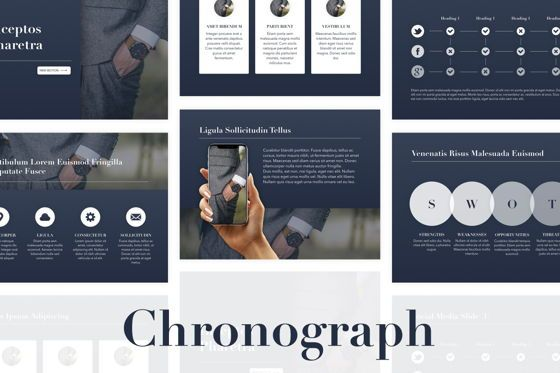 Presentation Templates: Chronograph PowerPoint Template #05357