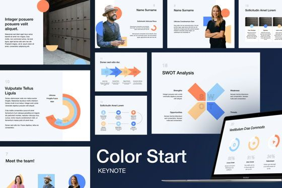Presentation Templates: Color Start Keynote Template #05358