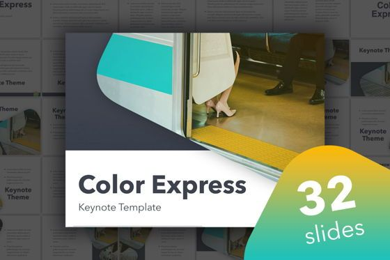 Presentation Templates: Color Express Keynote Template #05359
