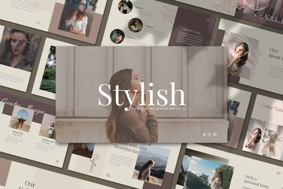 Presentation Templates: Stylist 2 - PowerPoint Template #05378