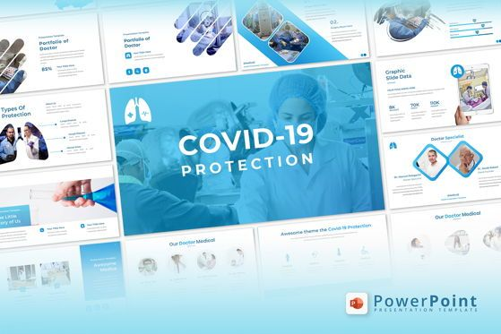 Presentation Templates: Covid19 Protection - PowerPoint Template #05379