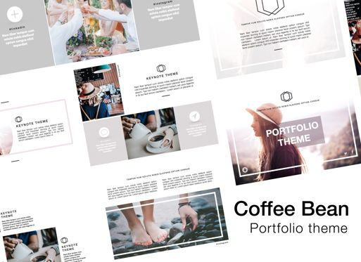 Presentation Templates: Coffee Bean Keynote Presentation Template #05386