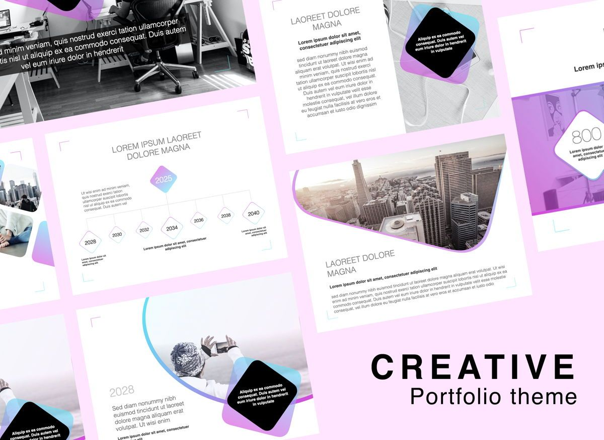 Creative Keynote Presentation Template, 05387, Präsentationsvorlagen — PoweredTemplate.com