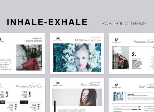 Presentation Templates: Inhale-Exhale Keynote Presentation Template #05393