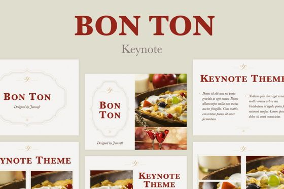 Presentation Templates: Bon Ton Keynote Template #05397