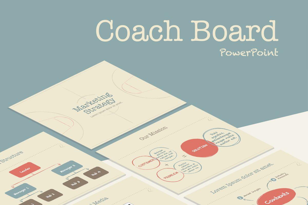 Coach Board PowerPoint Template, 05398, Business Models — PoweredTemplate.com