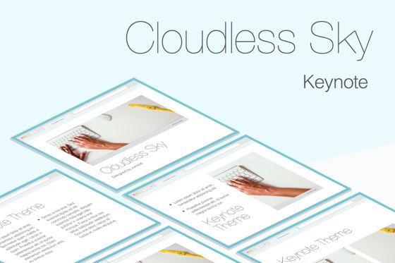 Presentation Templates: Cloudless Sky Keynote Template #05401