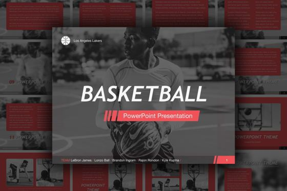 Presentation Templates: Basketball PowerPoint Template #05402