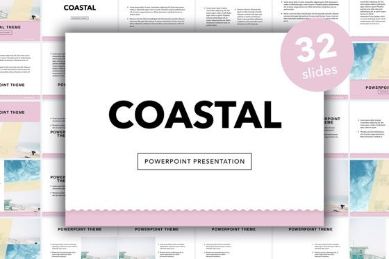 Presentation Templates: Coastal PowerPoint Template #05403