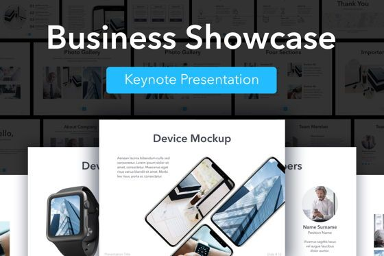 Presentation Templates: Business Showcase Keynote Template #05404