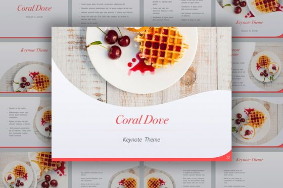 Presentation Templates: Coral Dove Keynote Theme #05406