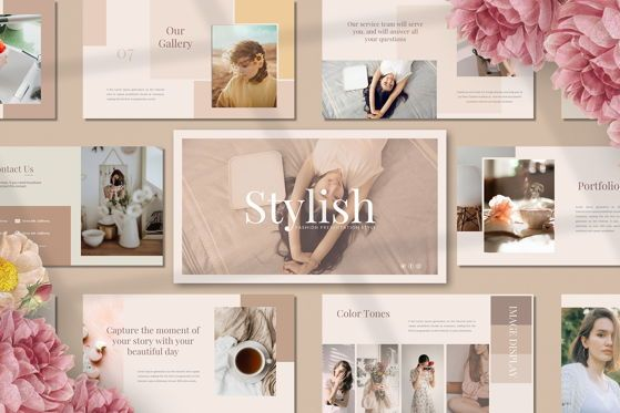 Presentation Templates: Stylish - Google Slide #05418