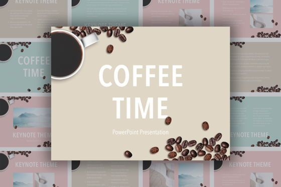 Presentation Templates: Coffee Time Powerpoint Template #05445