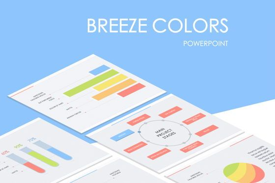 Infographics: Breeze Colors PowerPoint Template #05447