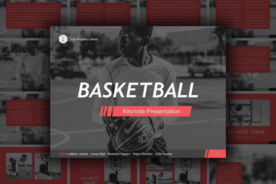Presentation Templates: Basketball Keynote Template #05461