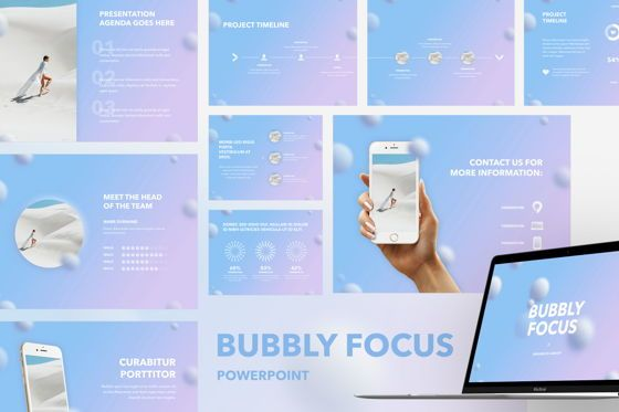 Presentation Templates: Bubbly Focus PowerPoint Template #05462