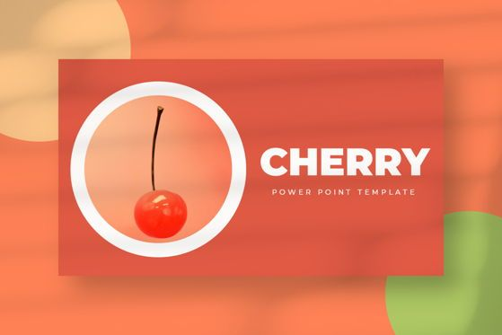 Presentation Templates: Cherry - PowerPoint Template #05466