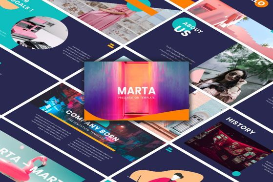 Presentation Templates: Marta - PowerPoint Template #05469