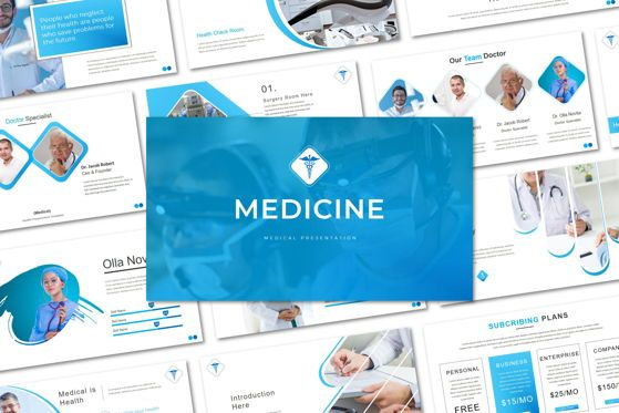 Presentation Templates: Medicine - PowerPoint Template #05471