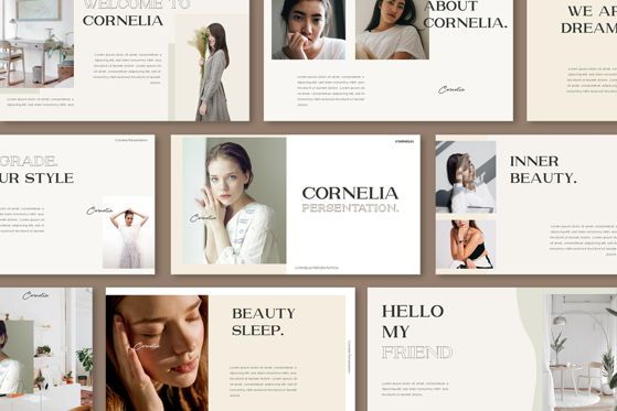 Presentation Templates: Cornelia - PowerPoint Template #05474