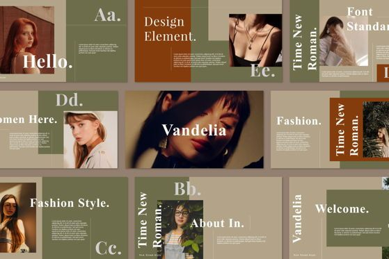 Presentation Templates: Vandelia - PowerPoint Template #05475