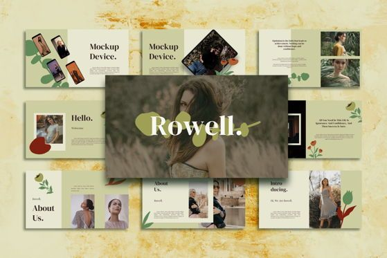 Presentation Templates: Rowell - PowerPoint Template #05476