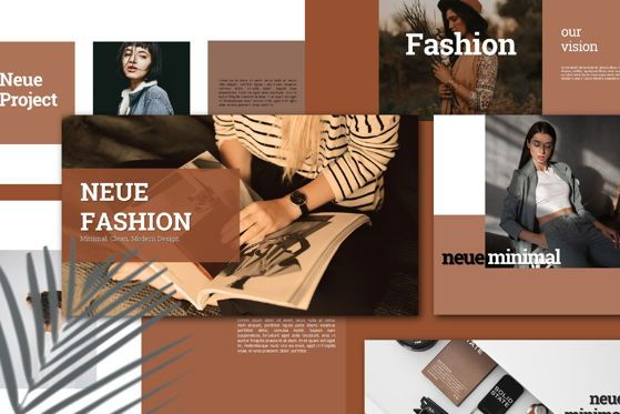 Presentation Templates: Neue Fashion - PowerPoint Template #05479