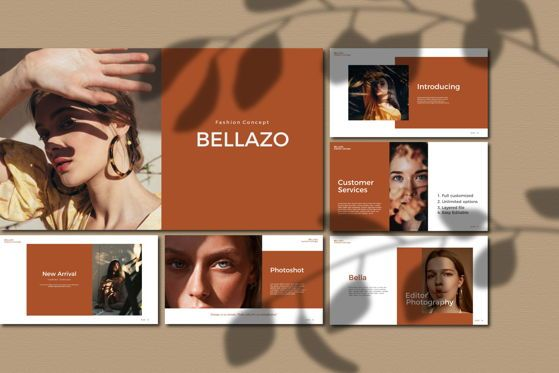 Presentation Templates: Bellazo - PowerPoint Template #05480