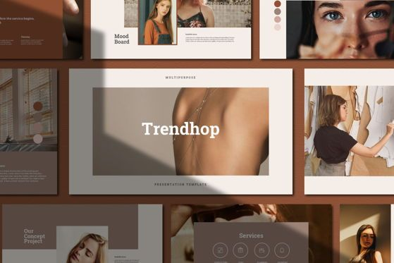 Presentation Templates: Trendhop - PowerPoint Template #05484