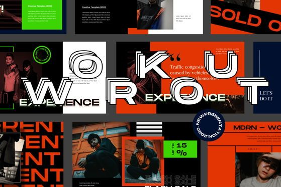 Presentation Templates: Workout - PowerPoint Template #05491