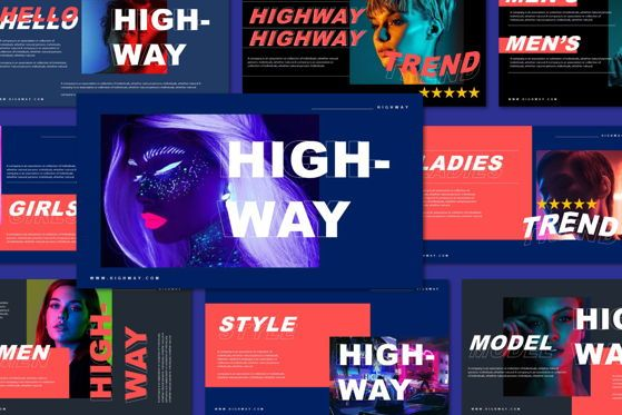 Presentation Templates: Highway - PowerPoint Template #05493
