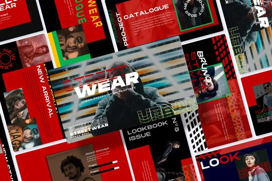 Presentation Templates: Streetwear - PowerPoint Template #05494