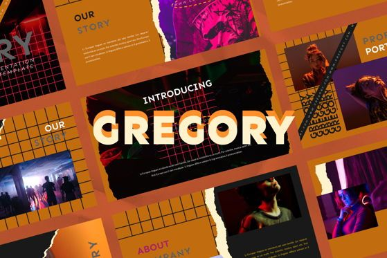 Presentation Templates: Gregory - PowerPoint Template #05496