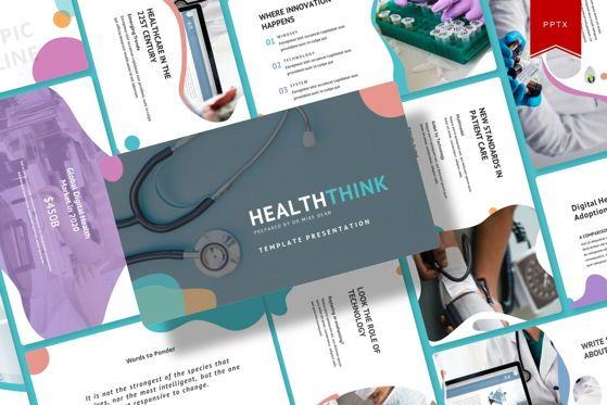 Presentation Templates: Healtthink - PowerPoint Template #05498