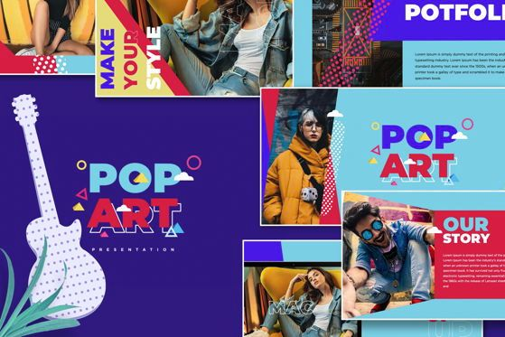 Presentation Templates: Pop Art - PowerPoint Template #05499