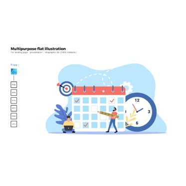 Business Models: Multipurpose modern flat illustration design project deadline #05501
