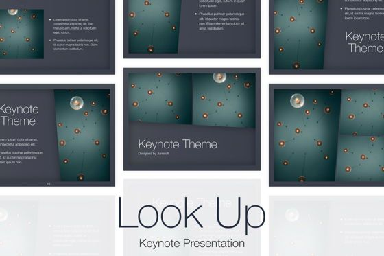 Presentation Templates: Look Up Keynote Template #05504