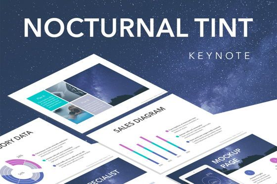 Presentation Templates: Nocturnal Tint Keynote Template #05506