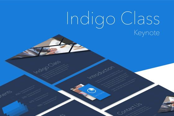 Presentation Templates: Indigo Class Keynote Template #05507