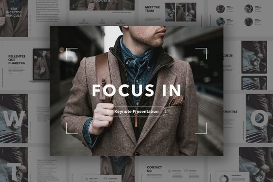 Presentation Templates: Focus In Keynote Template #05508