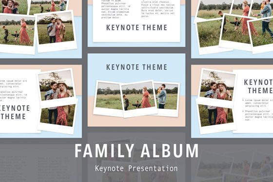 Presentation Templates: Family Album Keynote Template #05509