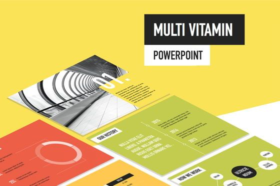 Presentation Templates: Multi Vitamin PowerPoint Template #05517