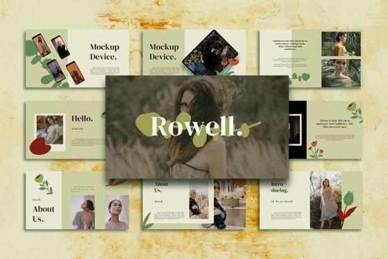 Presentation Templates: Rowell - Google Slide #05531
