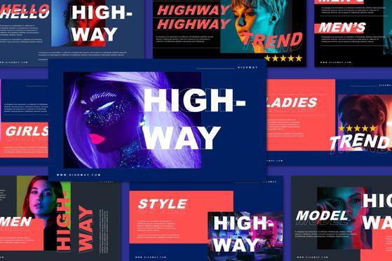 Presentation Templates: Highway - Google Slide #05549