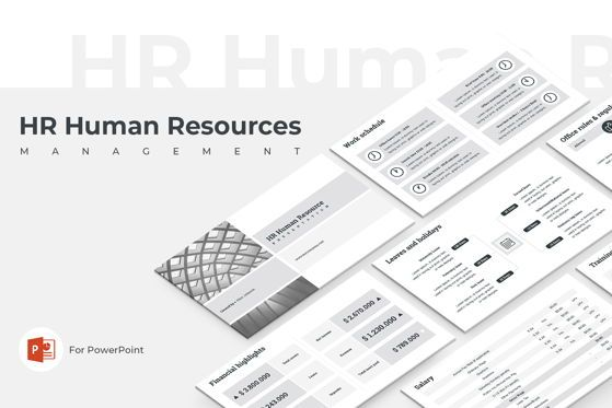 Presentation Templates: HR Human Resources PowerPoint Template #05554