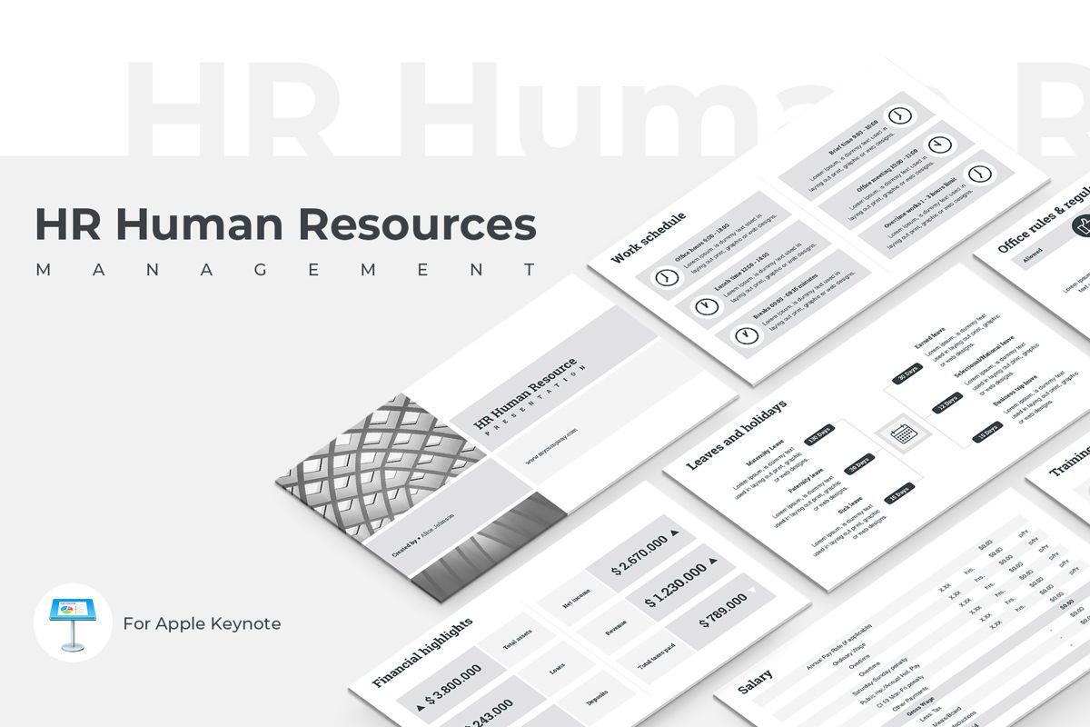 HR Human Resources Keynote Template, 05555, Presentation Templates — PoweredTemplate.com