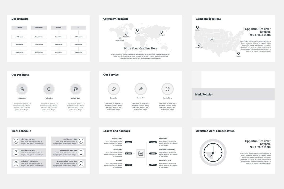 HR Human Resources Keynote Template, Slide 3, 05555, Presentation Templates — PoweredTemplate.com