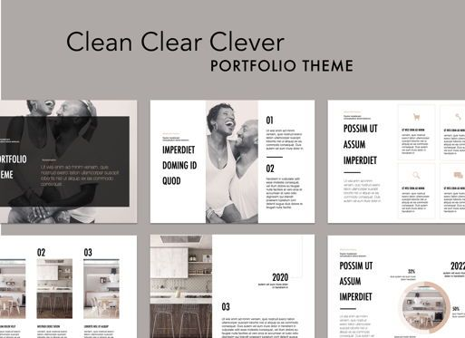 Presentation Templates: Clean Clear Clever Powerpoint Presentation Template #05576