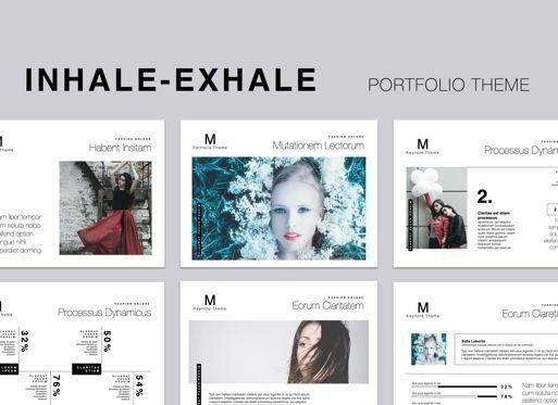 Presentation Templates: Inhale-Exhale Powerpoint Presentation Template #05584