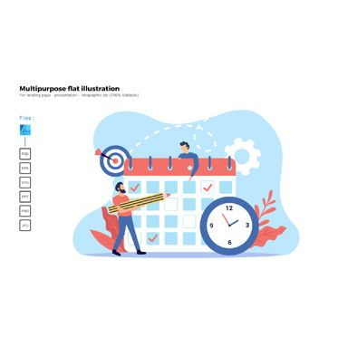Business Models: Multipurpose modern flat illustration design good agenda meeting #05624